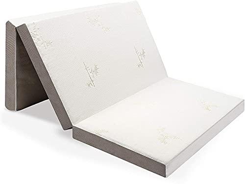 Milliard Materasso Pieghevole in Tre, Spessore 10 cm per Ospiti con Rivestimento Removibile Ultra-Morbido e Fondo Antiscivolo (Singolo 90 cm x 190 cm)