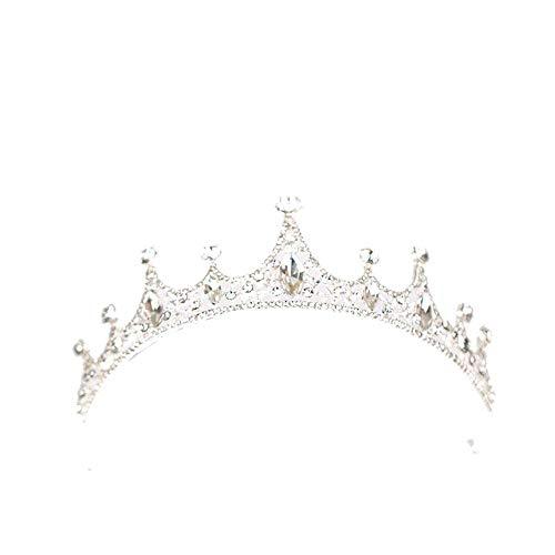 KiKom, diadema nuziale con strass, diadema regina, diadema nuziale, tiara per festa di compleanno, principessa Crown con orecchini
