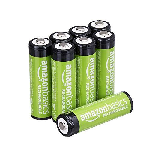 Amazon Basics - Batterie AA ricaricabili, pre-caricate, confezione da 8 (l'aspetto potrebbe variare dall'immagine)