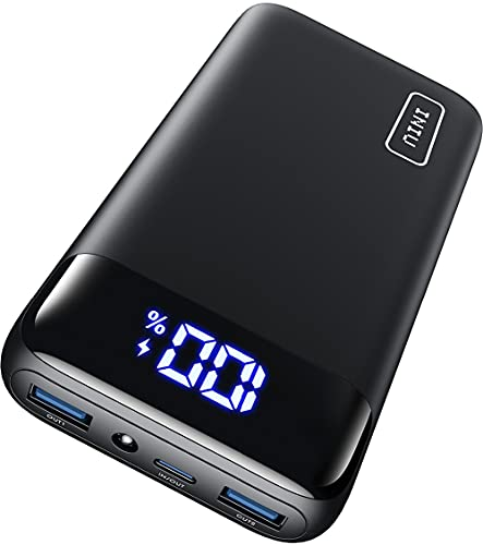 Power Bank 20000mAh, INIU 20W PD3.0 QC4.0 Carica Super Rapida con Display LED Caricatore Portatile, Tri-Uscite Powerbank per iPhone 13 12 Ipad Samsung Google Xiaomi Huawei Switch Airpods Pro ECC.