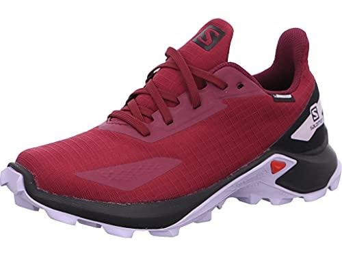 Salomon Alphacross Blast Climasalomon Waterproof, Impermeabile, Bambini, Scarpe da Trail Running, Viola (Plum Caspia/Black/Purple Heather), 37 EU