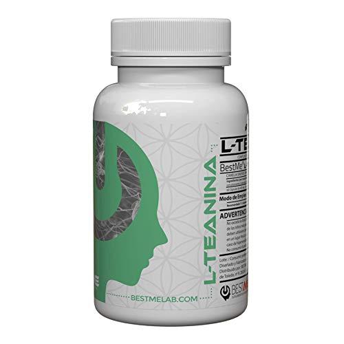 Bestme Suplementos Inteligentes Smart Supplies L-Teanina Ansia e Stress Sollievo, Focus e Concentrazione Effetti Nootropici Lenitivi, Pianta del Tè, 60 Capsule, 200 mg