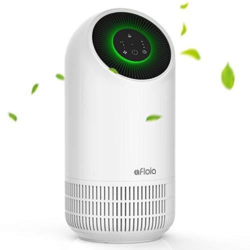 Afloia - Purificatore d'aria per casa, portatile, H13 filtro Hepa, luce notturna a LED di 2 luminosità, 3 velocità di vento, ultra silenzioso per casa, ufficio, camera