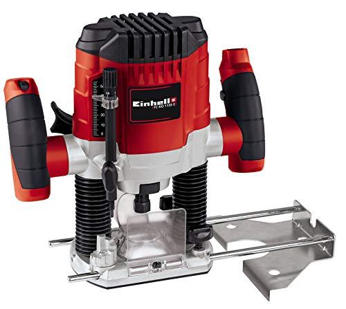 Einhell TC-RO 1155 E Fresatrice verticale (230-240 V, 1100 W, giri min. 11000-30000, profondità max 55 mm, fresa a profilo max 30 mm, pinza serraggio 6/8 mm, incl. Guida parallela)