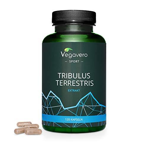 TRIBULUS TERRESTRIS Vegavero® | 1800 mg | 90% di SAPONINE | 120 capsule | Testosterone e Massa Muscolare | Vegan