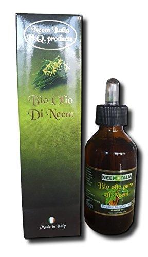 Olio di Neem puro biologico certificato Ecocert - Biocertitalia da 100ml. - spremuto a freddo
