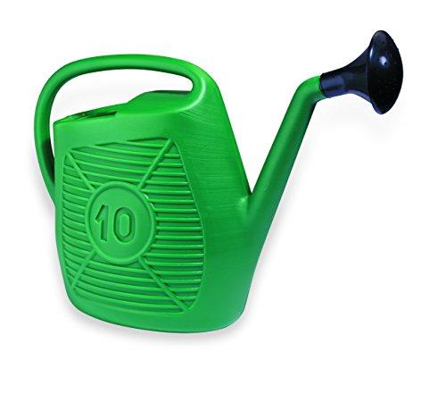 Ecoplast AN10 Annaffiatoio da 10 Litri, Ideale per Il Giardinaggio, Piante e Fiori, Comodo da Usare, Resistente, Duraturo e Indeformabile, con Doccetta Inclusa, Made in Italy, Verde