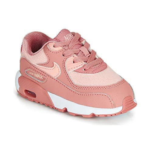 Nike Air Max 90 Se Mesh (TD), Scarpe Running Unisex-Bambini, Multicolore (Rust Pink/Storm Pink/Guava Ice/White 601), 26 EU