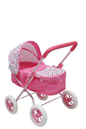 KOOKAMUNGA KIDS- Carrozzina Bambola, Colore Rosa, 99659