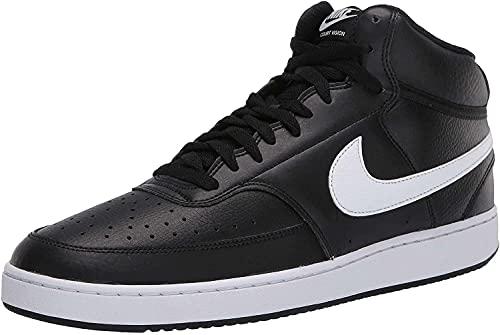 Nike Court Vision Mid, Basketballschuhe Uomo, Multicolore Black White 001, 44.5 EU