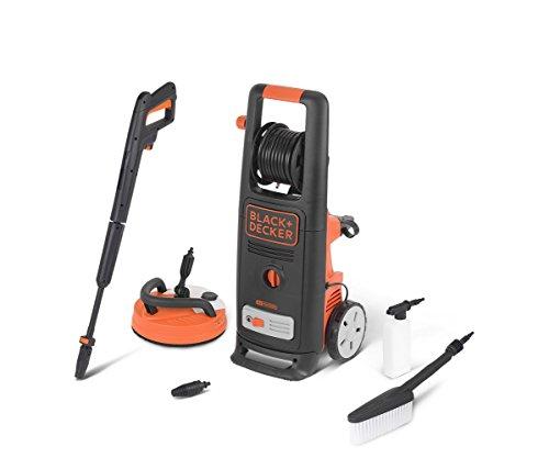 BLACK+DECKER BXPW2000PE Idropulitrice ad Alta Pressione con Patio Cleaner Deluxe e Spazzola Fissa, 2000 W, 140 bar, 440 l/h