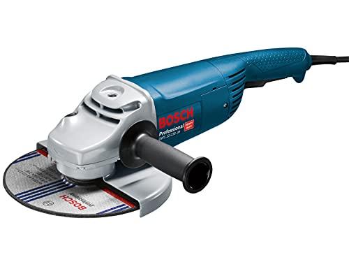 Bosch Professional 0601882M03 Smerigliatrice Angolare GWS 22-230 JH, Impugnatura Supplementare, Cuffia di Protezione, Confezione in Cartone, Ø Disco: 230 mm, 2200 W, 240 V, Blu