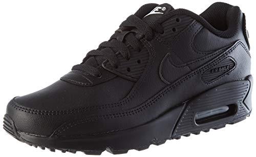 Nike Air Max 90 LTR Big Kids' Shoe, Scarpe da Corsa, Black/Black-Black-White, 37.5 EU