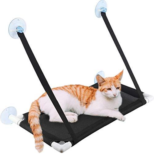 FayTun - Amaca per finestra per gatti, traspirante, con 4 ventose ultra resistenti, per prendere il sole e per gatti fino a 10 kg