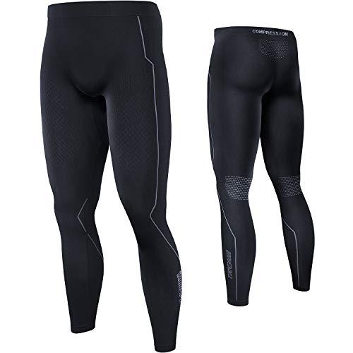 Souke Sports - Leggings Uomo A Compressione,Calzamaglia Sportiva Uomo per Corsa, Jogging, Palestra