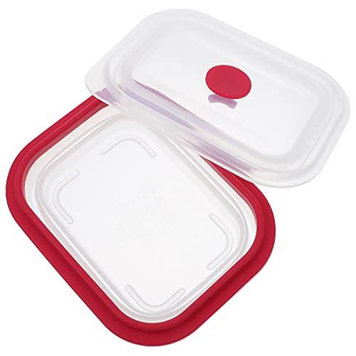 OSALADI Bento Box Lunch Box Scatola di Pranzo del Silicone A Perfetta Tenuta Pranzo Contenitore di Plastica Utensile per La Casa Ufficio 400Ml