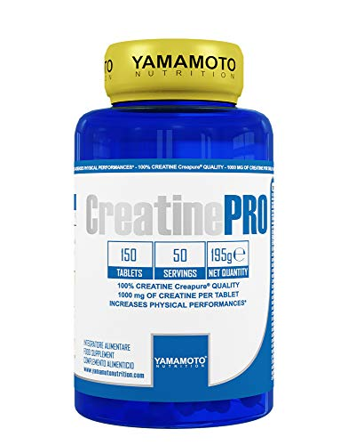 Yamamoto Nutrition Creatine PRO Creapure© Quality integratore alimentare di creatina monoidrato qualità Creapure 150 compresse