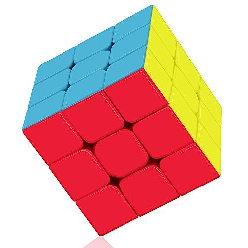 Roxenda Speed Cube, Qiyi Warrior S 3x3 Cube Stickerless - Solido Durevole & Tornitura Regolare, Il Miglior Cubo Magico di Puzzle 3D - Gira più Velocemente Dell'originale
