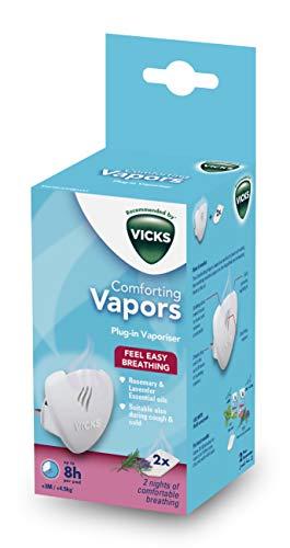 Vicks VH1700JUV-EMEA Diffusore Elettrico di Vapori Decongestionanti al Rosmarino e Lavanda
