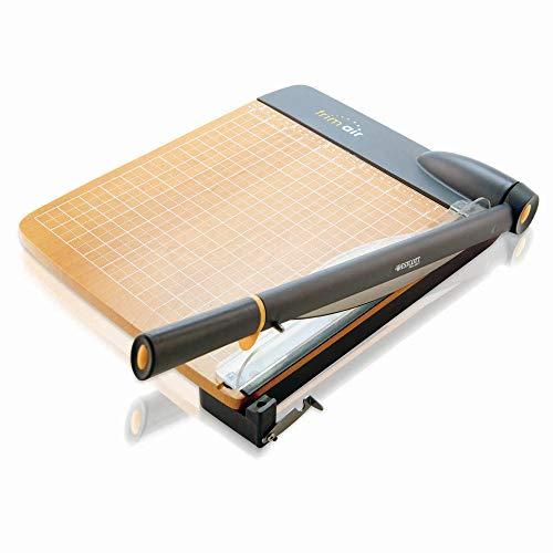 Westcott 15106 Taglierina a leva TrimAir, 30 cm, con base in legno, per fino a 30 strati di carta da 80g