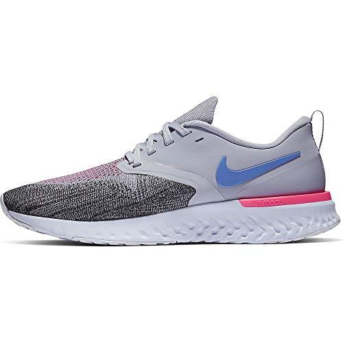 Nike Odyssey React Flyknit 2, Scarpe da Corsa Donna, Indigo Haze/Sapphire/Nero/Iron Purple, 40 EU