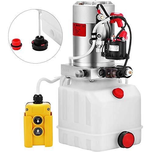 VEVOR Pompa Idraulica Hydraulic Pump 12V DC Singola Agendo Con Plastic Tank Per Elevatore (4L)
