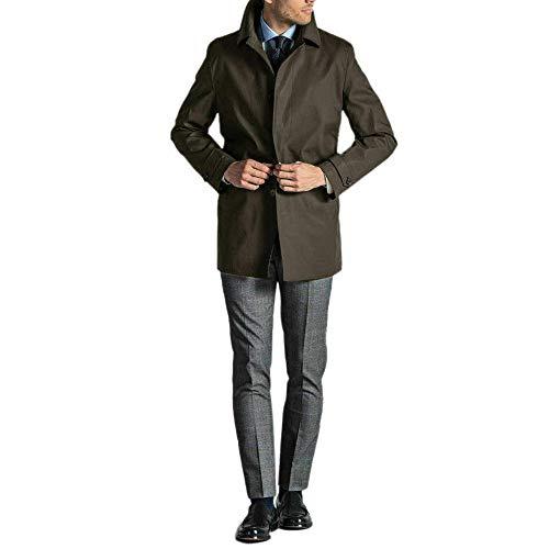 Ciabalù Trench Uomo Invernale Soprabito Elegante Cappotto Impermeabile Lungo Sartoriale Blu Fango (Fango, numeric_52)