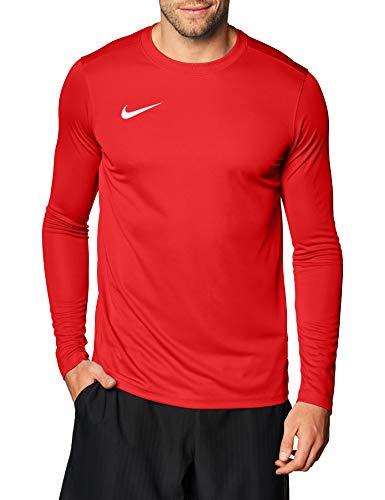 Nike M Nk Dry Park VII JSY LS, T-Shirt A Manica Lunga Uomo, University Red/White, M