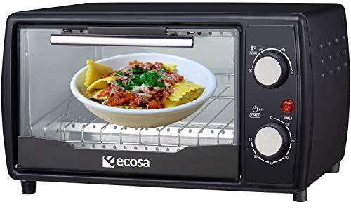 Mini forno | 1000 Watt | 10 litri | incl. teglia e griglia | Forno per pizza | 90° – 230 °C | Timer 60 min | Teglia raccoglibriciole apribile | Mini forno | forno | Piccolo