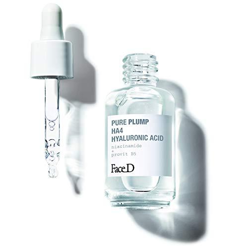 Face D - Pure Plump, Siero con Acido Ialuronico HA4 a Effetto Rassodante Immediato, 30 ml, Incolore