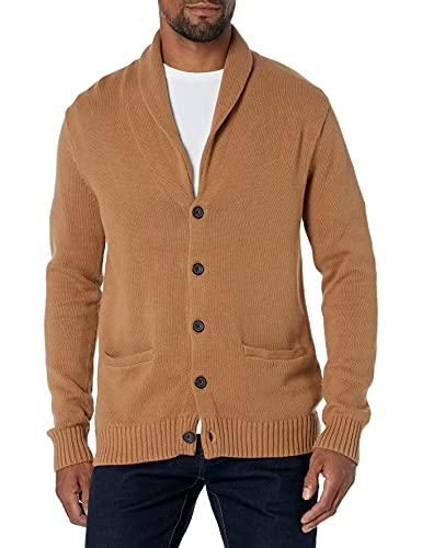 Goodthreads Soft Cotton Shawl Cardigan Sweaters, Cammello, US (EU XL-XXL)