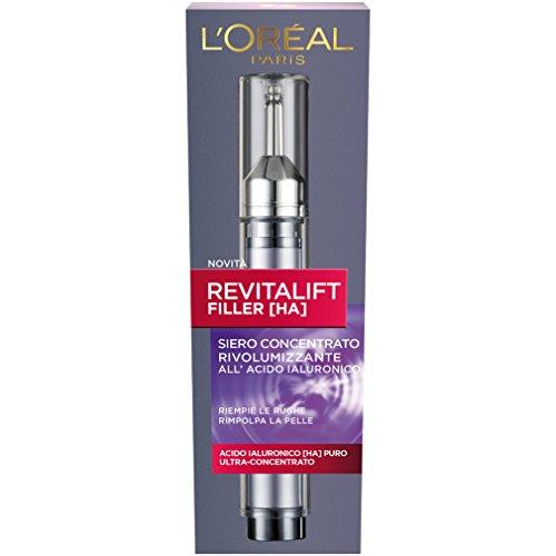 L'Oréal Paris Revitalift Filler Siero Antirughe Rivolumizzante con Acido Ialuronico Ultra-Concentrato, 30 ml