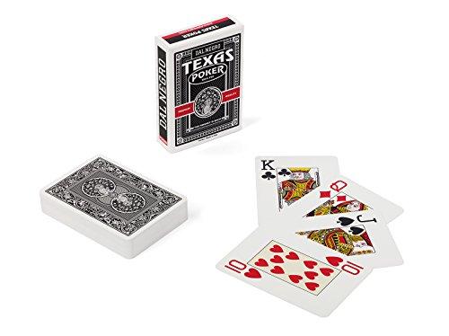 Dal Negro 24125 - Carte da Gioco Texas Poker Monkey, Nero