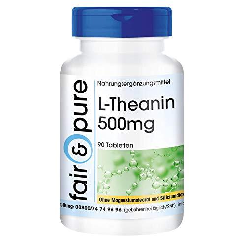 L-Teanina 500mg - Vegan - Aminoacido da tè verde - 90 Compresse