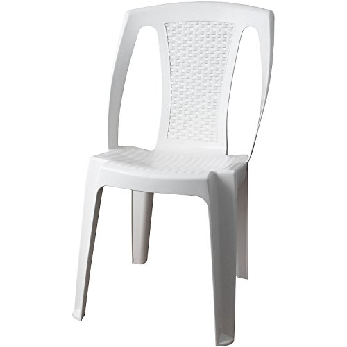Sedia da giardino sedia da giardino PROCIDA plastica bianco balcone mobili in rattan terrazze mobili