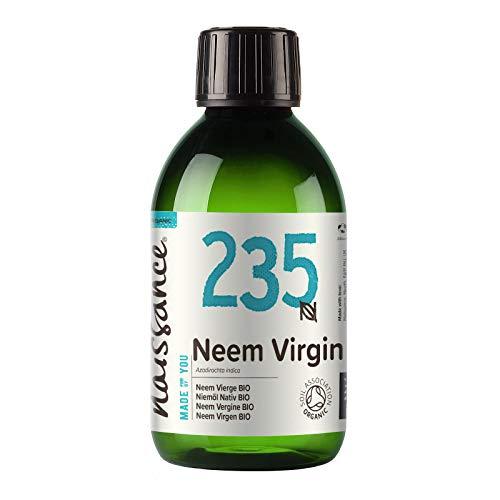 Naissance olio di Neem Vergine Certificato Biologico pressato a freddo 100ml - Puro e Naturale al 100%, Vegano e senza OGM