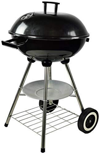ACTIVA - Barbecue a sfera Atlanta con coperchio, barbecue rotondo a carbonella con flusso d'aria regolabile, per un barbecue di successo