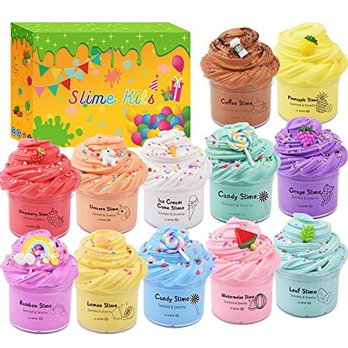 Confezione da 12 kit di melma, soffice melma al burro per ragazze e ragazzi, super elastico e non appiccicoso,2.6Lbs