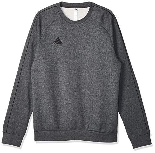 Adidas Core 18 SS, Felpa Uomo, Grigio (Dark Grey Heather/Black), M