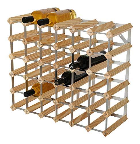 RTA 36 bottiglia tradizionale vino Rack-Kit-Natural Pine (FSC), legno, 61,9 x 52,3 x 23,3