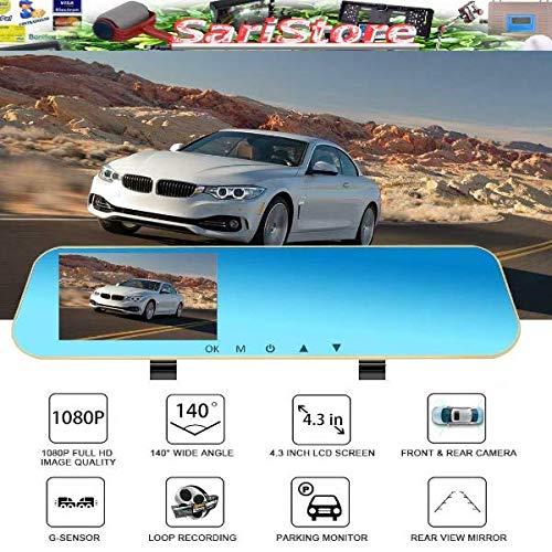SPECCHIETTO RETROVISORE FULL HD 1080P VIDEOCAMERA SPECCHIO TELECAMERA AUTO