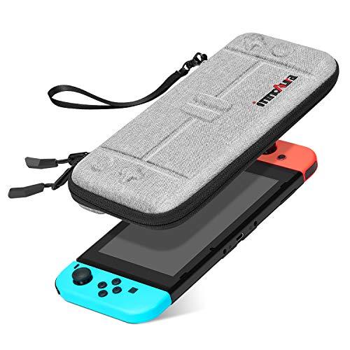 Custodia per NS Switch/Switch OLED - innoAura Custodia da Viaggio Sottile Portatile Involucro Rigido Adatta a Console Switch & 8 Cartucce Gioco