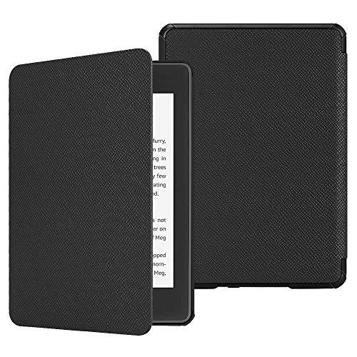 Fintie Custodia per Kindle Paperwhite 2018, Cover con Funzione AutoSveglia/Sonno per Kindle Paperwhite (10ª generazione - modello 2018), Nero