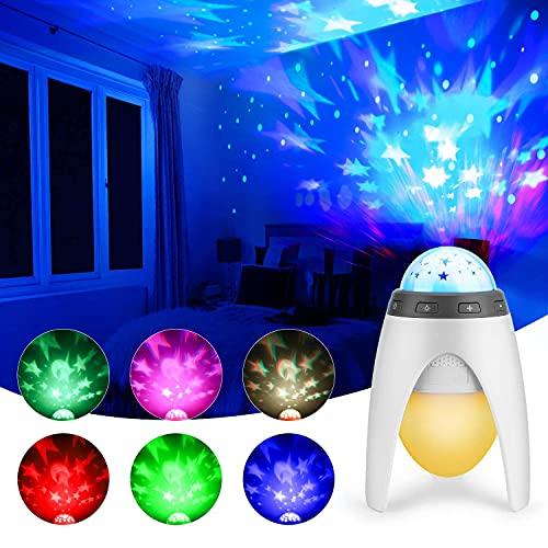 Proiettore Stelle Bambini, Daover Proiettore Bambini Luce Notturna LED Baby Stelle Lampada, Proiettore a Luce Stellare 360° Rotazione con Cavo USB per Regali di Natale, Bambini, Compleanno…