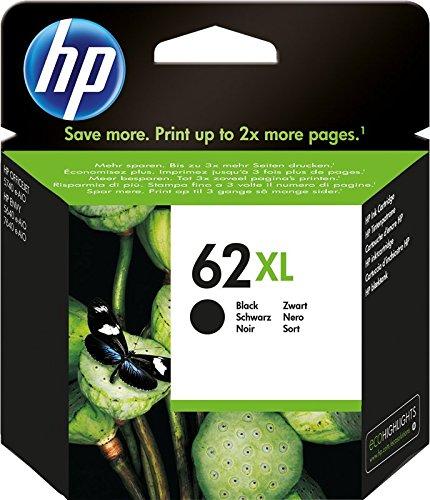 HP 62XL C2P05AE Cartuccia Originale per Stampanti a Getto d'Inchiostro, Compatibile con Envy All in One 5540, 5642, 5644, 5742, 7640, l'Officejet 5740 e l' Officejet Serie 200, Nero
